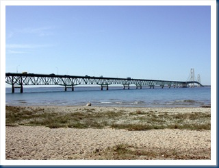 Mackinaw Bridge As Seen From Mackinaw City