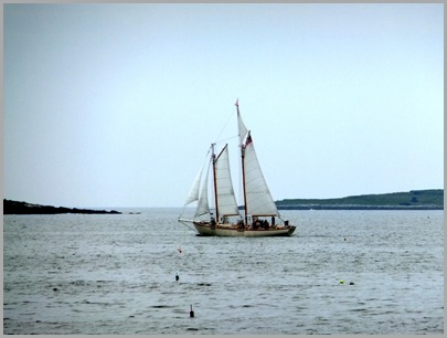 Ketch Sailing Around Ram Island