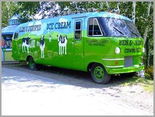 Replica of Ben & Jerry's Ice Cream Mobile
