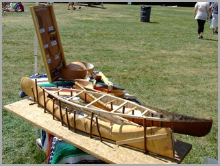 Showing How Birch Bark Canoes Were Built