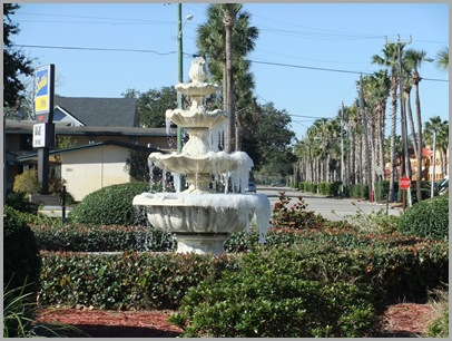 Frosted Fountain In Florida