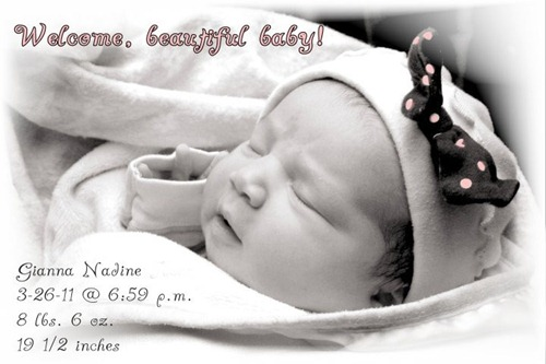 Gigi birth announcement1