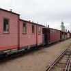Museojuna aloitti liikenteen iltapäivällä. Kuva: Tiina Sintonen