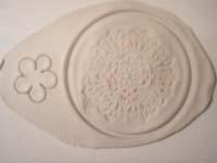 texturizar textura y flor   Colgante con textura y flor