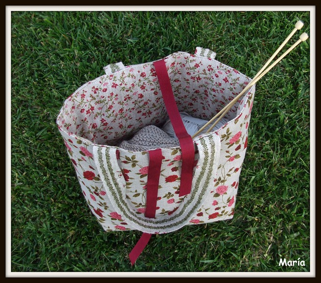 Bolso flores punto-2