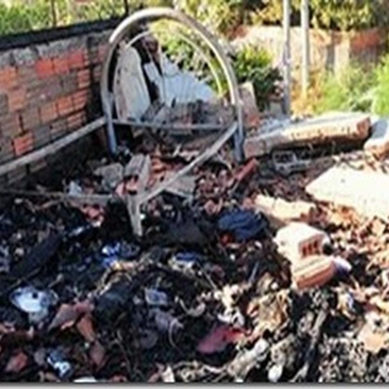 São Paulo: Fogo destrói casa em suposta combustão espontânea
