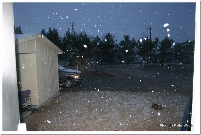 Snow at 6:30 AM Feb 20, 2011 in Pahrump, NV