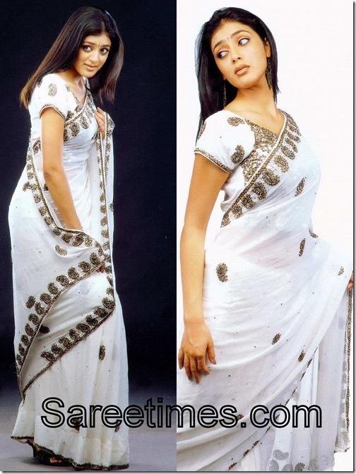 Parvathi_Melton_White_Saree