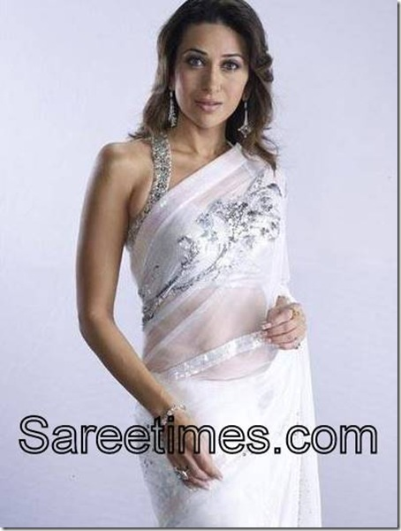 Karishma-Kapoor-White-Designer-Saree