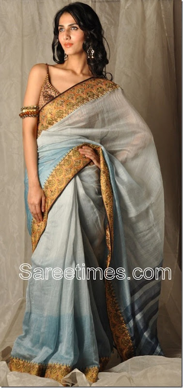 Blue_Chanderi_Silk_Saree