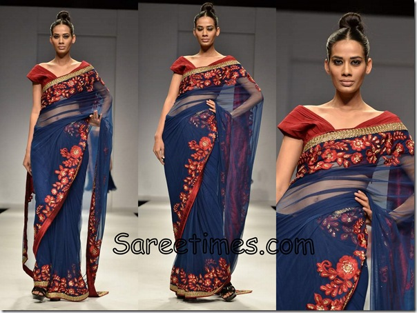Swapan_Seema_Blue_Saree