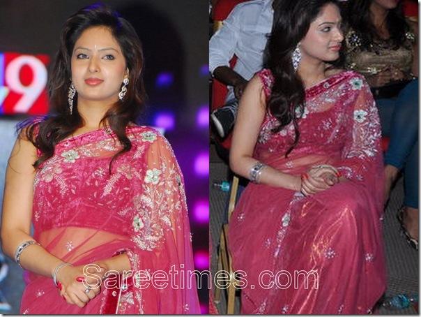 Nikisha_Patel_Pink_Saree