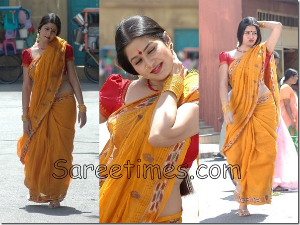 Sangeetha_Mustard_Saree