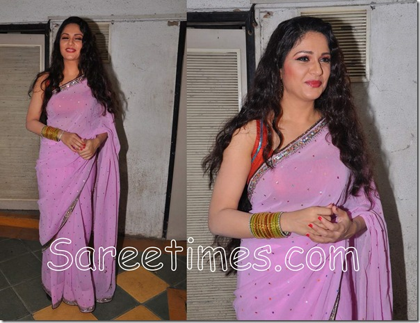 Gracy_Singh_Purple_Saree