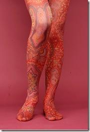 Paisley tights