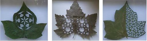 hojas caladas en cuadros para decorar