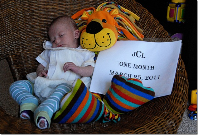 Justin One Month