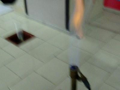 effetto del calore sul solfuro di ferro