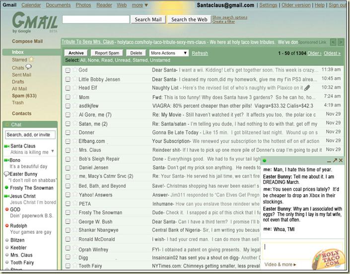santa email