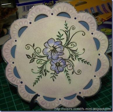 carte tampon acrylique fleur