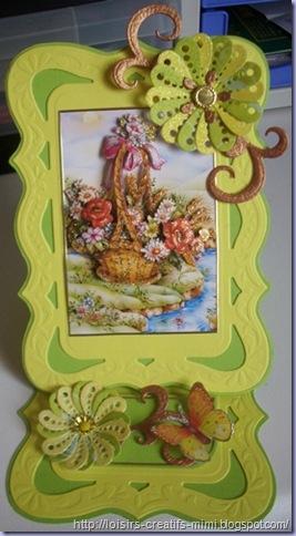 carte 3D chevalet fleurs