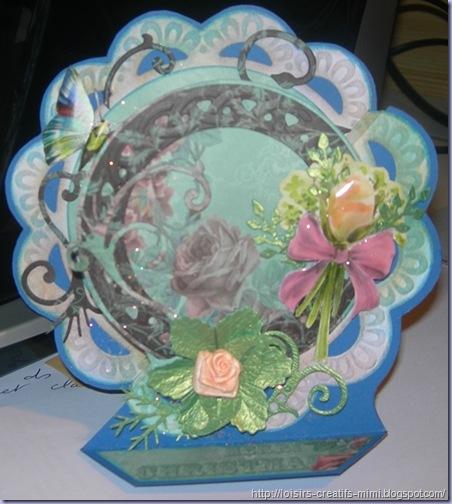 Carte 3D fleur
