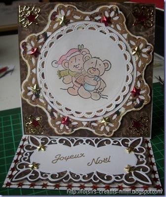 carte chevalet Noël