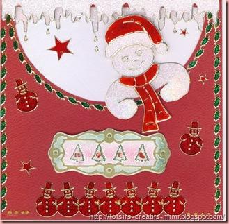 Carte de Noël Bonhomme...