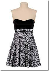 zebra print summer dress