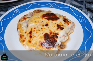 Moussaka de lentejas