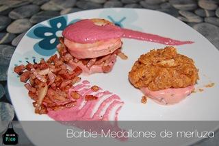 Barbie-Medallones de merluza