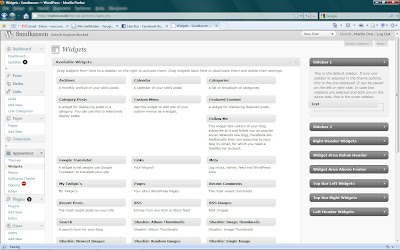 "Back in WordPress, I go to the widgets page. I choose the widget called ""Text"" and drag it to the sidebar area."