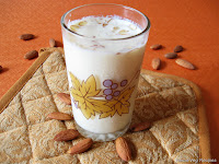 Almond Milk Drink or Badam Milk