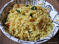 Oggarane Avalakki or Tempered Poha