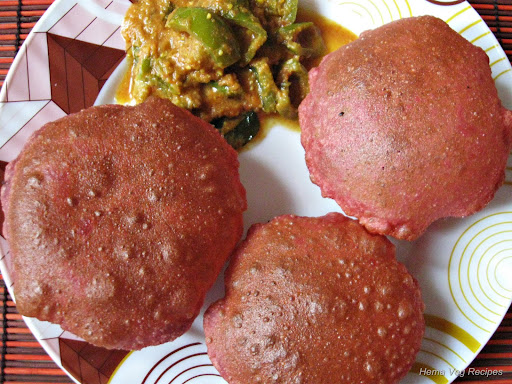 Beetroot Puri/Poori