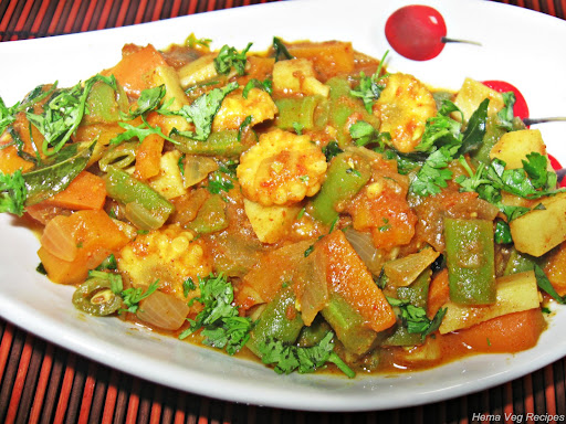 Mixed Vegetable Sabji or Subzi