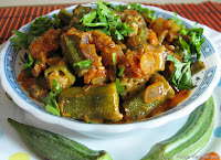 Bhindi Fry or Bhindi Masala or Okra Fry