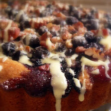 Soured Cream Blueberry Breakfast Cake