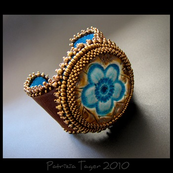 Flower Power - OOAK Cuff 03 copy