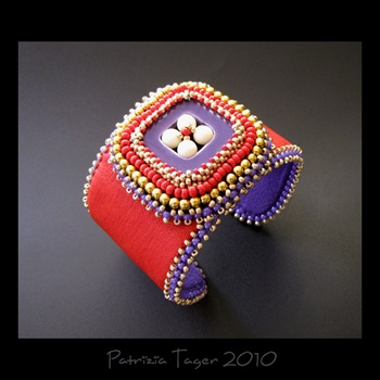 Retro Square Red & Purple - Cuff 03 copy