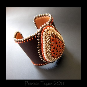 Moroccan Spice - Brown Leather Cuff 03 copy