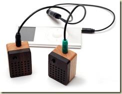 motz stereo wooden speakers