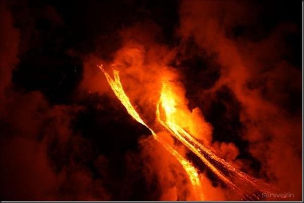Uma erupção do vulcão islandês (22)