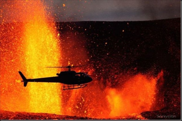Uma erupção do vulcão islandês (14)