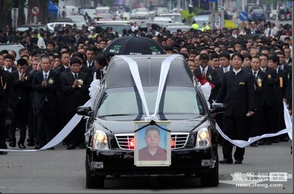 funeral de chefe de máfia de Taiwan