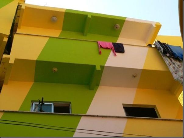 Pinturas coloridas na Favela de Santa Marta no RJ (6)