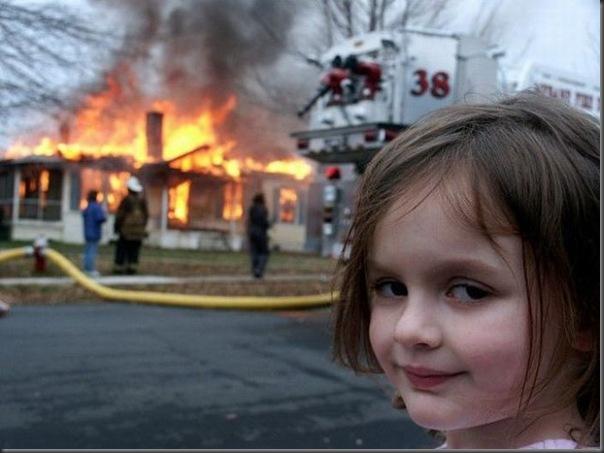 a menina do desastre