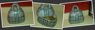 View Burberry inspired cookie jar