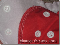amp duo diaper snap closure