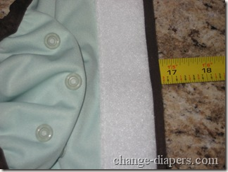 small cloth diaper size stretched
